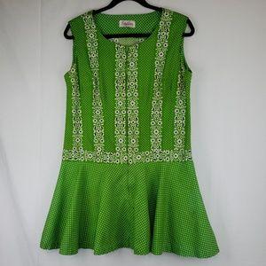 Vintage short green dress